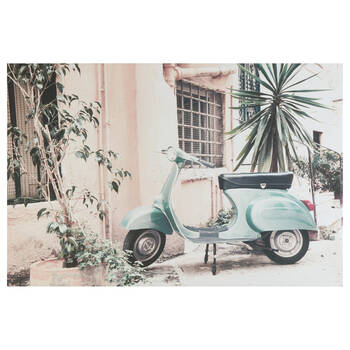 Parked Vespa Printed Canvas