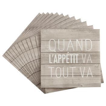 Set of 20 Tout Va Table Napkins