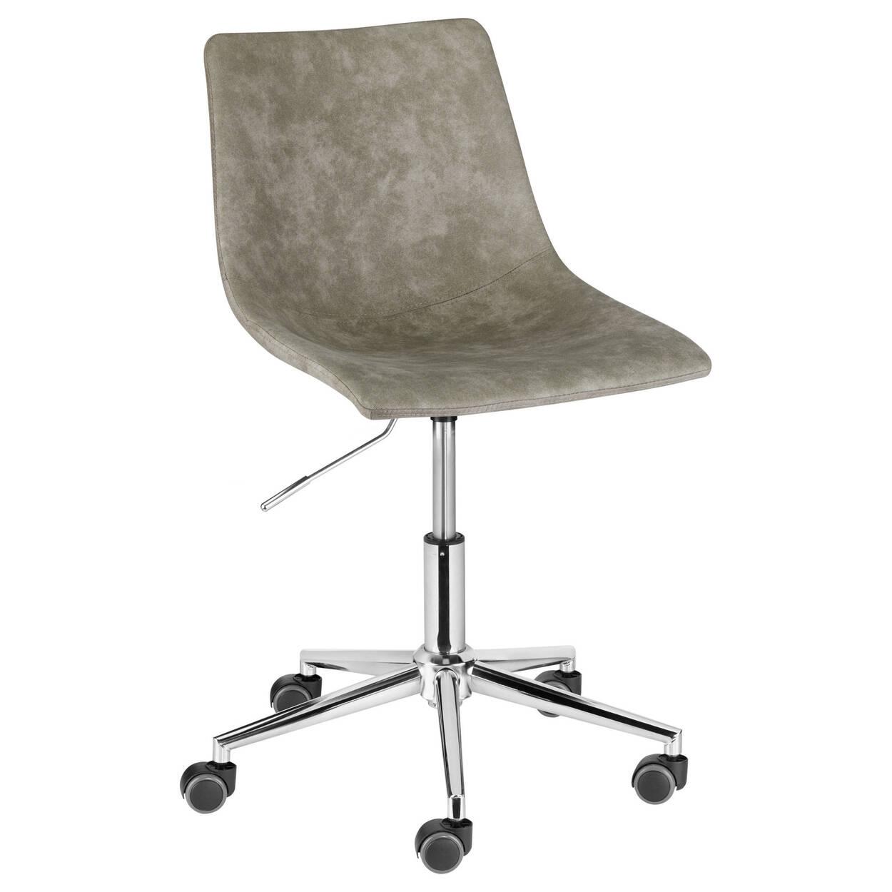 chaise de bureau roulante en faux cuir crazy horse et en. Black Bedroom Furniture Sets. Home Design Ideas