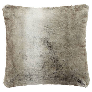 "Wolf Faux Fur Decorative Pillow 20"" X 20"""