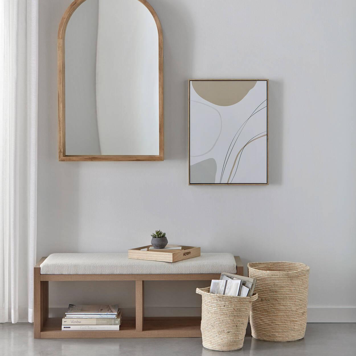 Miroir arche en bois de grange