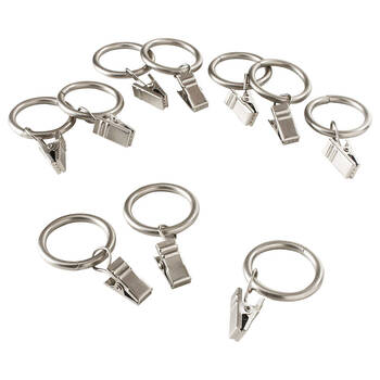 Set of 7 Metal Clip Rings