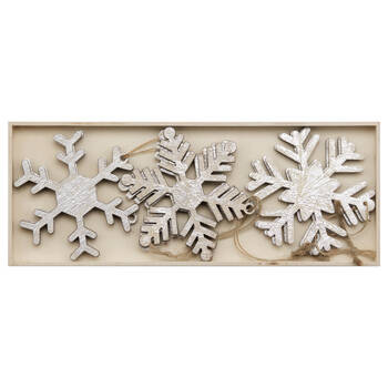 Set of 9 Snowflake Ornaments