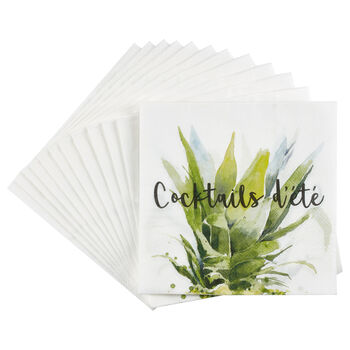 Pack of 20 Cocktails d'Été Paper Napkins