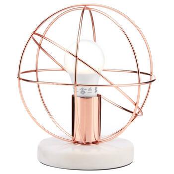 Geometric Metal Wire Lamp
