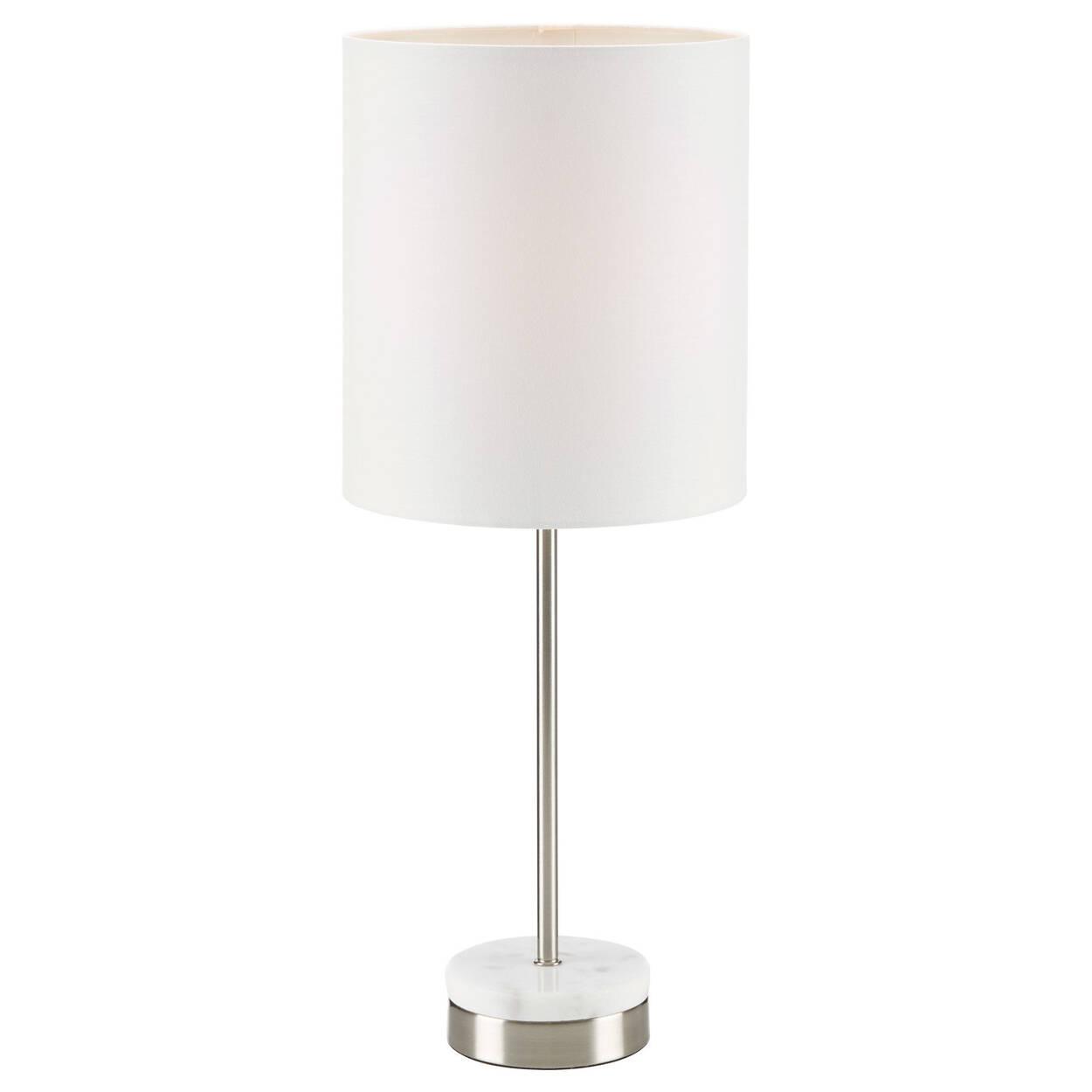 Lampe de table en métal et en marbre