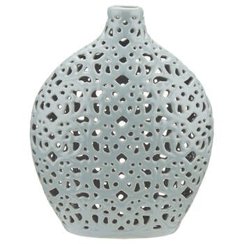 Lace Cut-Out Ceramic Table Vase