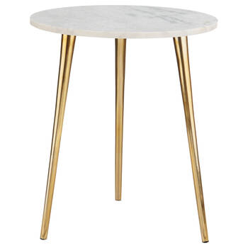 Marble and Iron Side Table