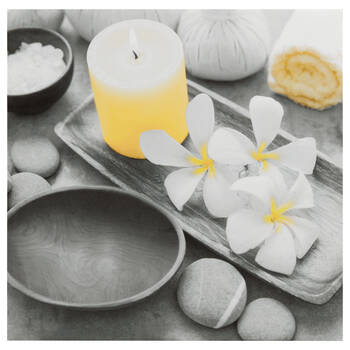 Spa Orchids Printed Canvas