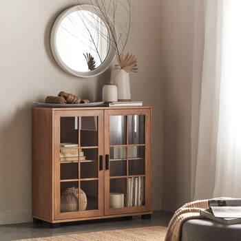 Armoire en bois à deux portes