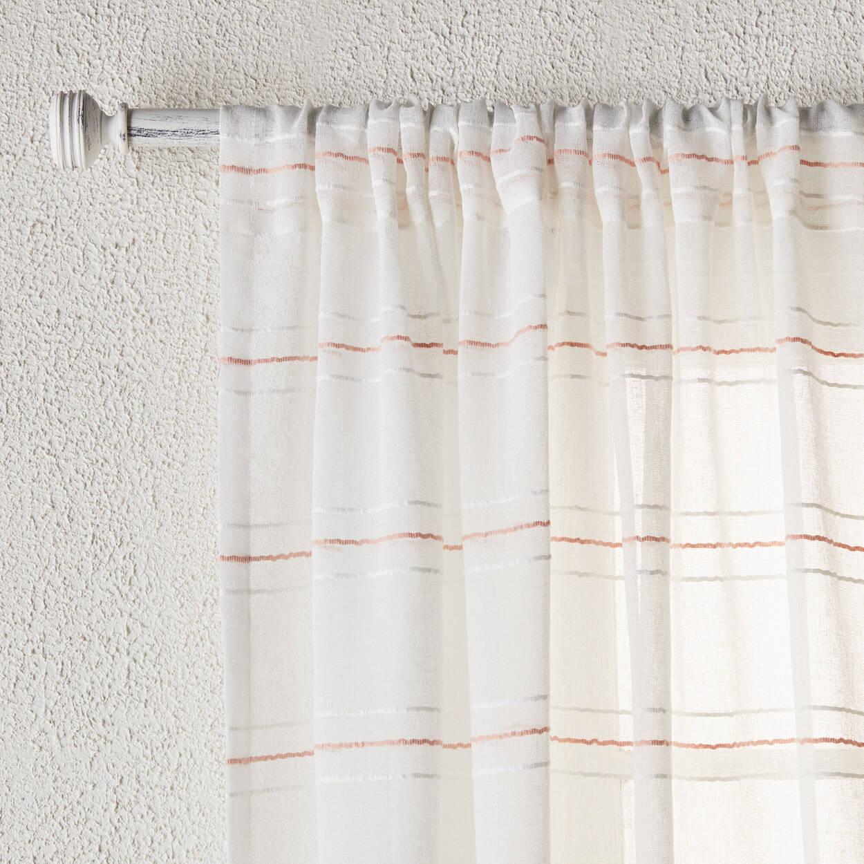 Boho Striped Sheer Panel