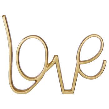 Decorative Metallic Word Love