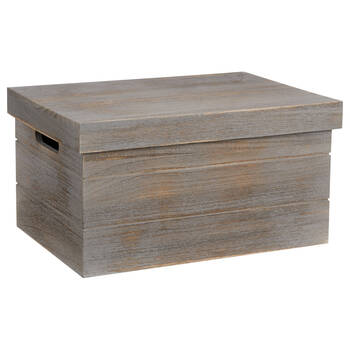 Wood Crate with Lid