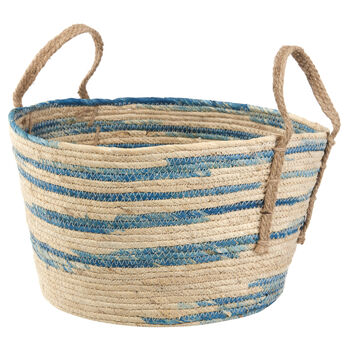 Natural Fibre Woven Storage Basket