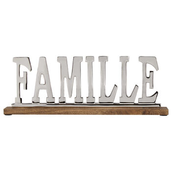 Aluminum Decorative Word Famille