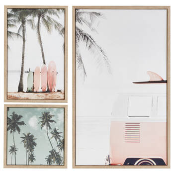 Set of 3 Beach Framed Canvases