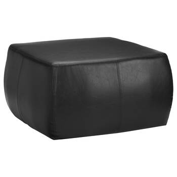 Faux Leather Ottoman