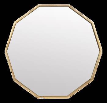 Miroir polygone avec cadre doré