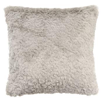 "Sheep Faux Fur Decorative Pillow 19"" X 19"""