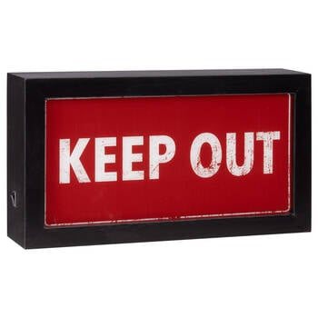 Keep Out Lightbox