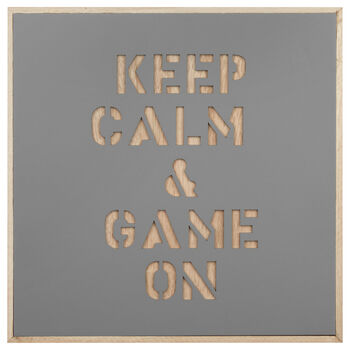 Game On Wood Wall Plaque