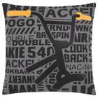 """Barspin Bike Decorative Pillow 18"""" x 18"""""""
