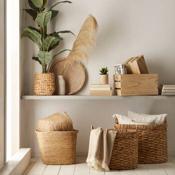 Natural Fibre Oval Storage Basket
