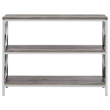 Console à trois étagères en placage et en métal