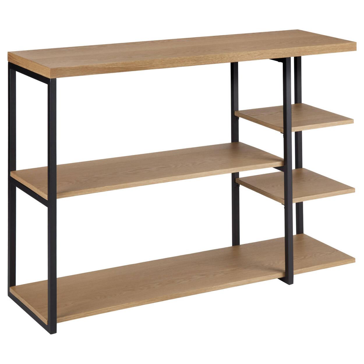 Console en bois et en métal