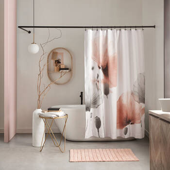 Blush Poppy Shower Curtain