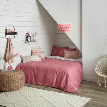 Boho Nature - 3-Piece Duvet Pink Cover Set