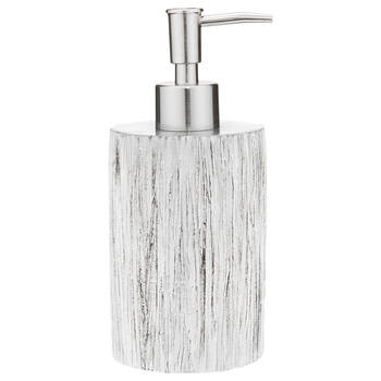Wood Effect Resin Soap Dispenser