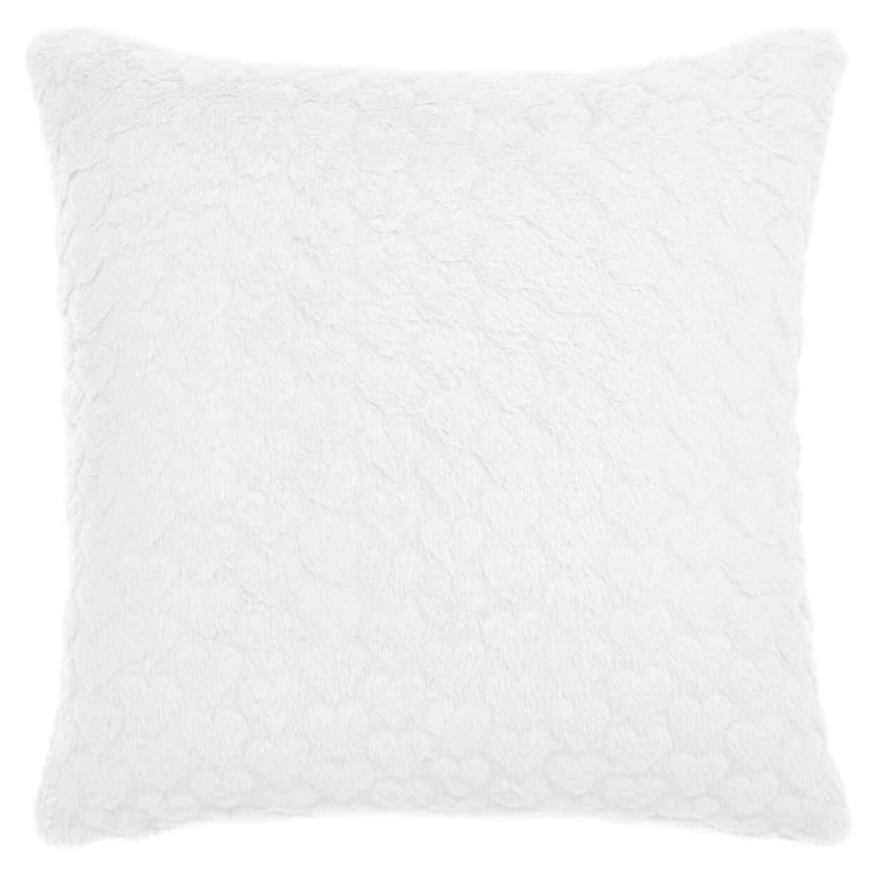 "Mini Hearts Faux Fur Decorative Pillow 17"" X 17"""