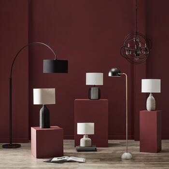 Striped Ceramic Table Lamp