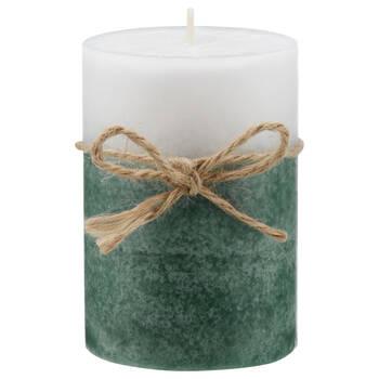 Green 2-Tone Pillar Candle