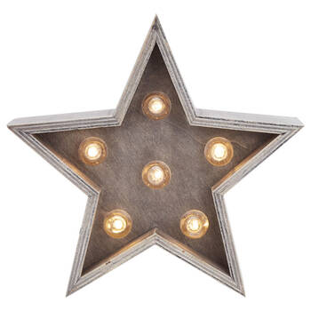 Decorative Wooden Star with LED Light