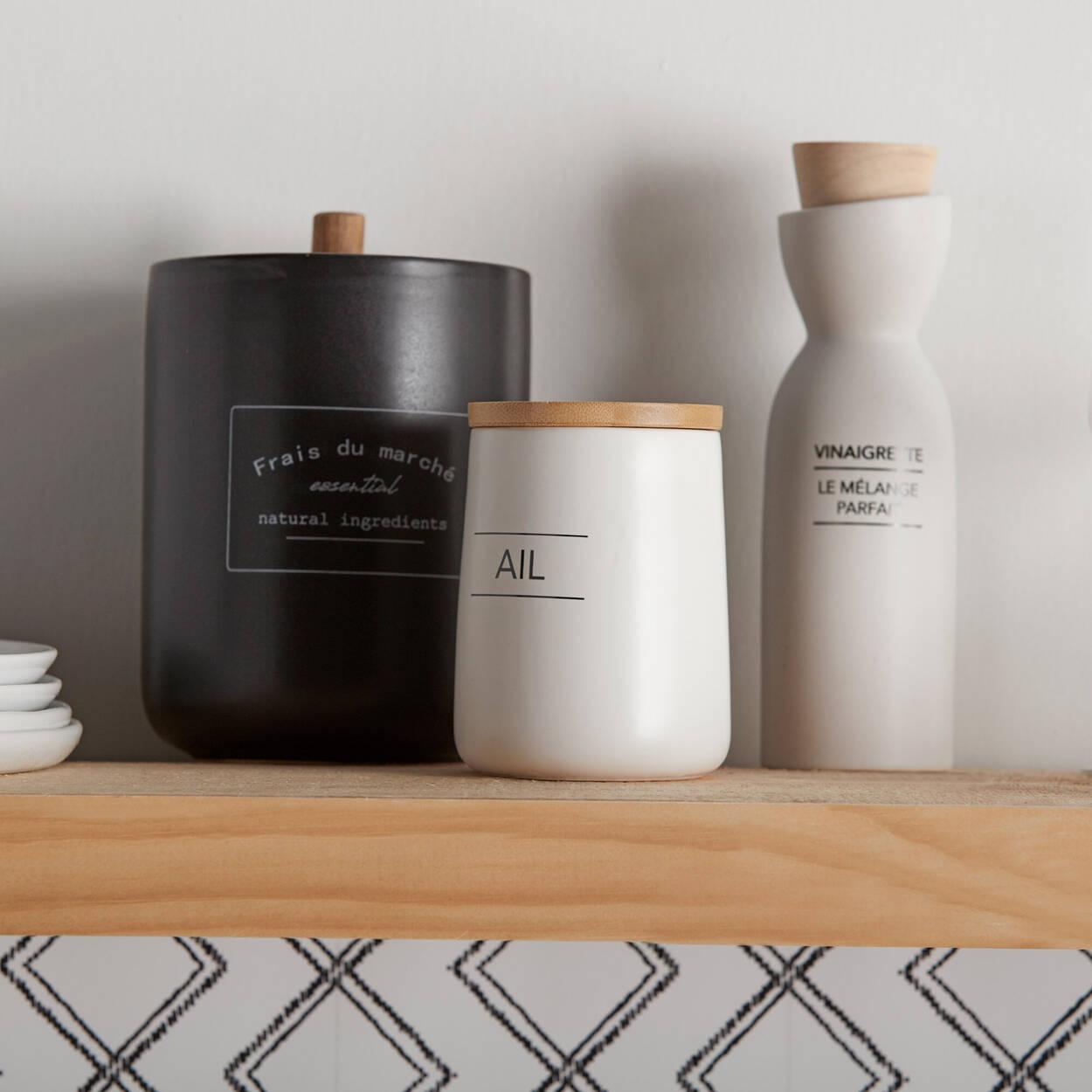 Pot à café hermétique en céramique noire