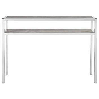 Marble Effect Chrome Console Table