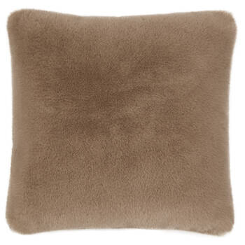"Coyote Faux Fur Decorative Pillow 20"" X 20"""