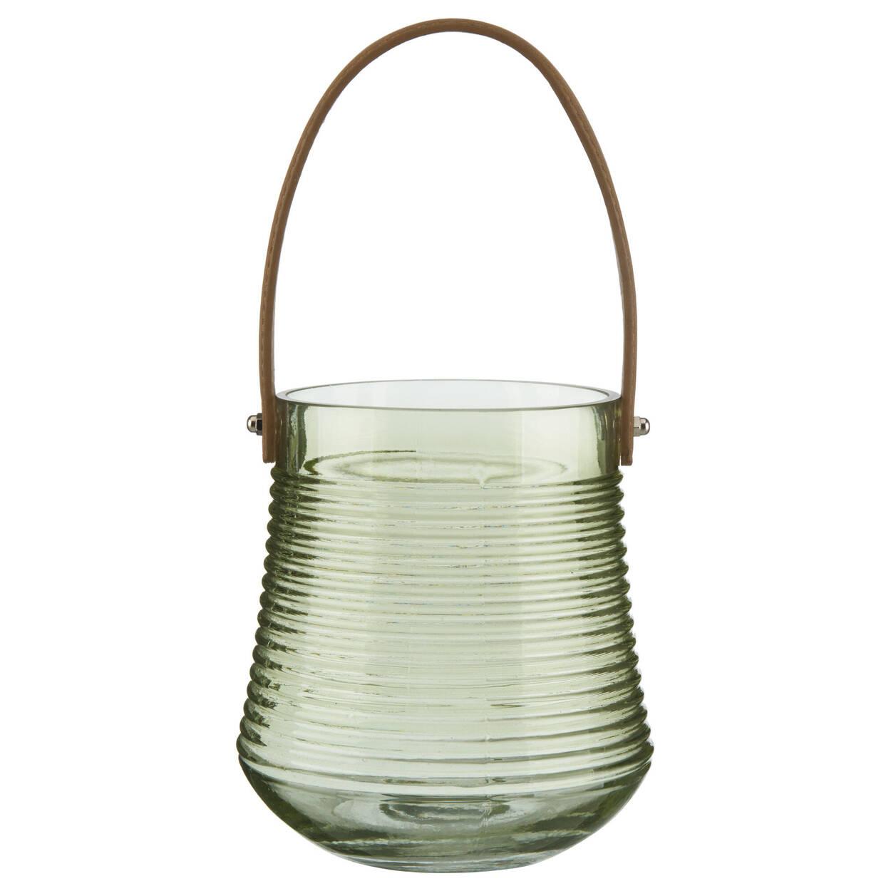 Lanterne de verre vert