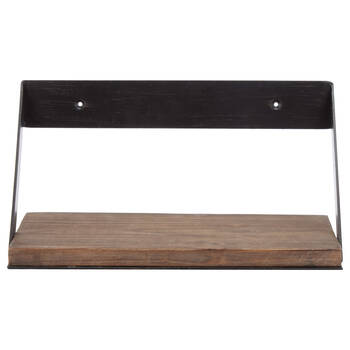 Small Wood and Metal Shelf