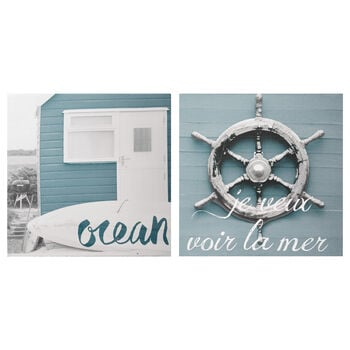 Set of 2 Canvases Ocean