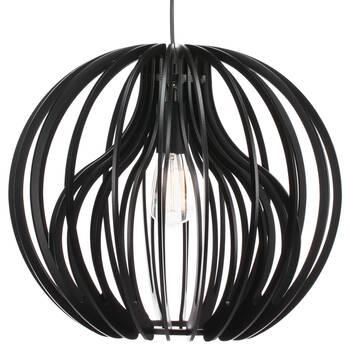 Lampe suspendue en bois à 2 épaisseurs
