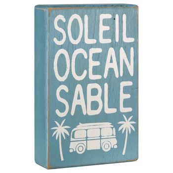 Beach Surf Relax Decorative Block