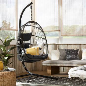 Black Cocoon Swing Chair