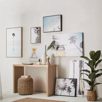 Black & White Pineapple Framed Art
