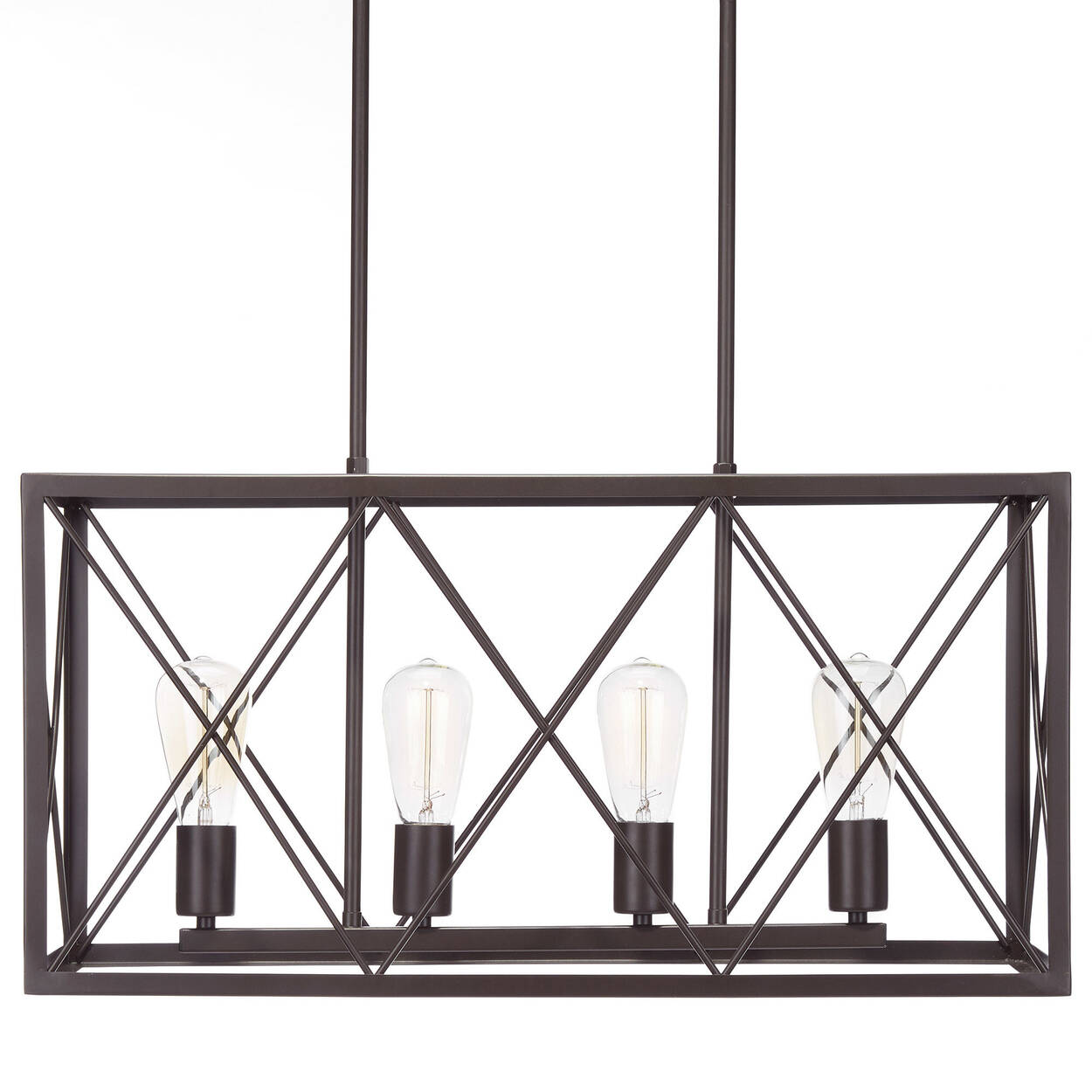 Geometric Metal Wire Ceiling Lamp