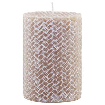 Pink Woven Pillar Candle