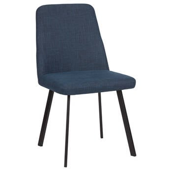 Textured Chita Fabric and Iron Dining Chair