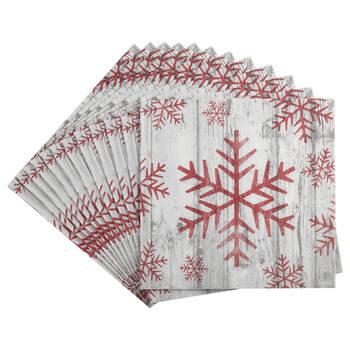 Pack of 20 Snowflake Paper Napkins
